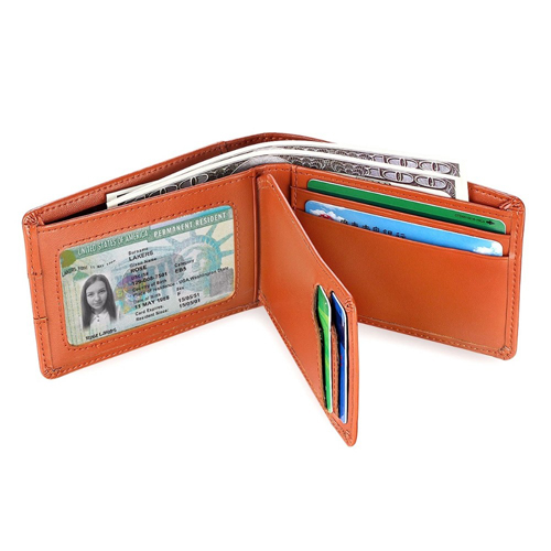 BOSHIHO New Design Leather RFID Credit Card Holder Custom Gift Card Holder