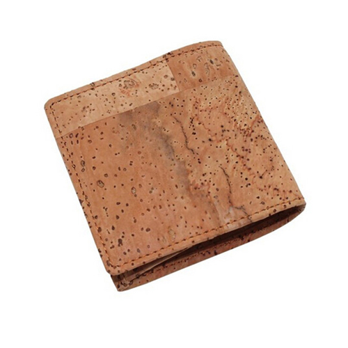 Boshiho vagan hot sale promotion gifts cork coin holder coin case leather