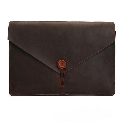 Wholesale Custom Design Leather Sleeve Case For Apple MacBook Air 11 or 13 Inch Cover With Clasical Strap
