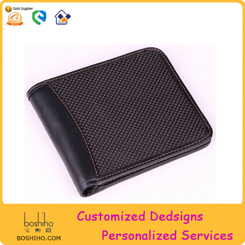 BOSHIHO Newly Customized Brands RFID Mens Carbon Wallet
