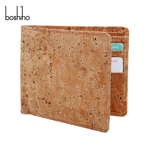Eco friendly wallet coin and light men cork wallet with vegan wallet