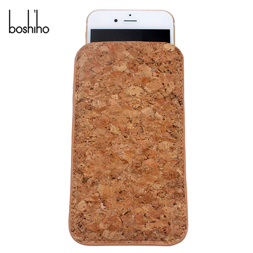 feliable cork mobile phone pouch sleeve for iphone 6 sleeve