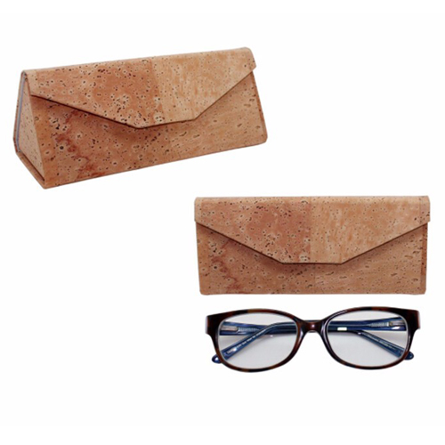 Eco-friendly cork foldable sunglasses case